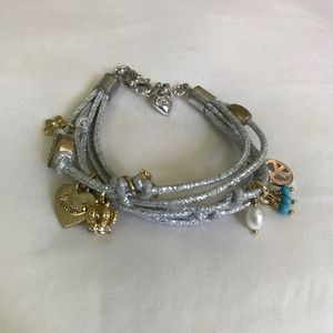 Juicy Couture Silver Bracelet with Charms